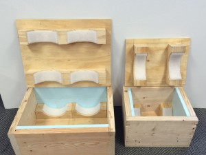 Custom Export Crates With Internal Foam-lined Saddles